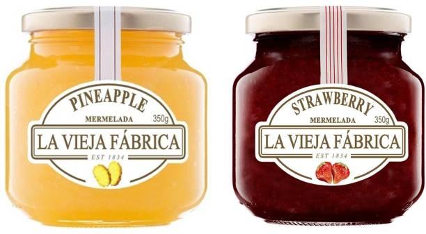 La Vieja Fabrica Strawberry Jam and Pineapple Jam (Each 350gm)-Combo Pack 700 g