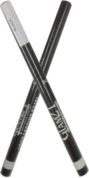 Glam 21 1 Long Lasting WaterProof Black Kajal Pencil+1 Long Lasting WaterProof White Kajal Pencil