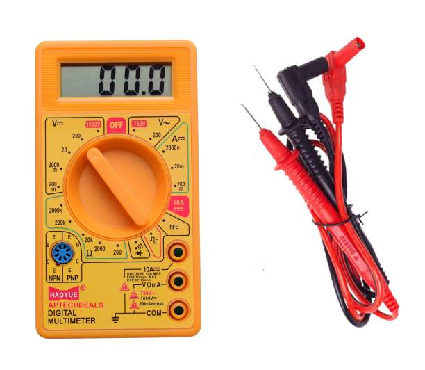 APTECHDEALS Hao Yue D830D Digital Multimeter LCD AC DC Measuring Voltage Current (not for professional use) Digital Multimeter