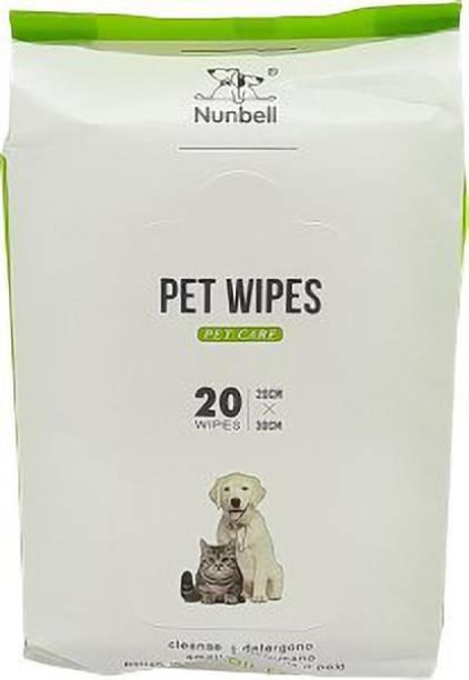 Nunbell Pet Wipes Pack Of 20 Pieces. Pet Ear Eye Wipes