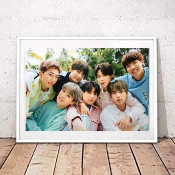 BTS cute Poster for bts army A4 size leminated poster 3D Poster