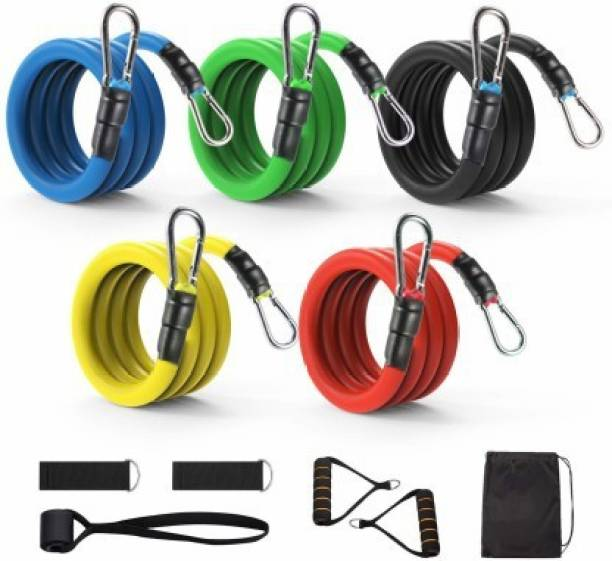 Shopeleven Fitness 11 pc Resistance Band Set Toning band home gym portable Resistance Tube