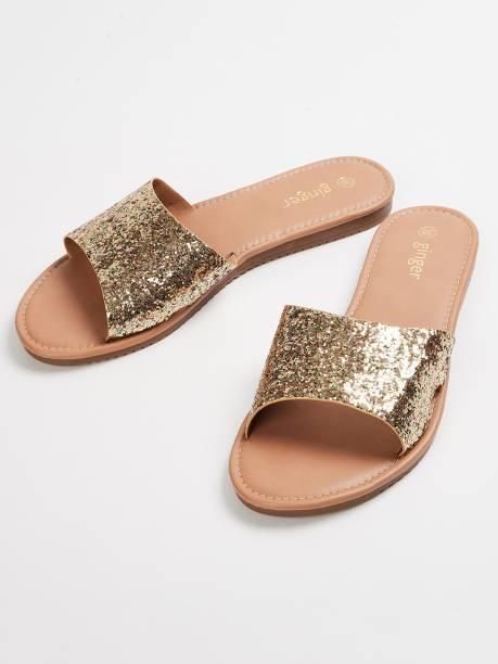 GINGER Women Gold Flats
