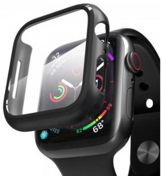 CallSmith Edge To Edge Tempered Glass for Apple Watch 44mm Series 4, Apple Watch ,44mm Series 5,44mm Series 6, Matte Finish 360° Bumper Cover with Tempered Glass