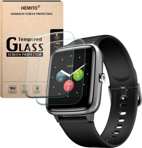 Hemito Edge To Edge Tempered Glass for Noise Colorfit Pro 2 Smart Watch