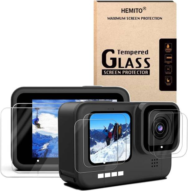 Hemito Edge To Edge Tempered Glass for Gopro Hero 9 Black Action Camera