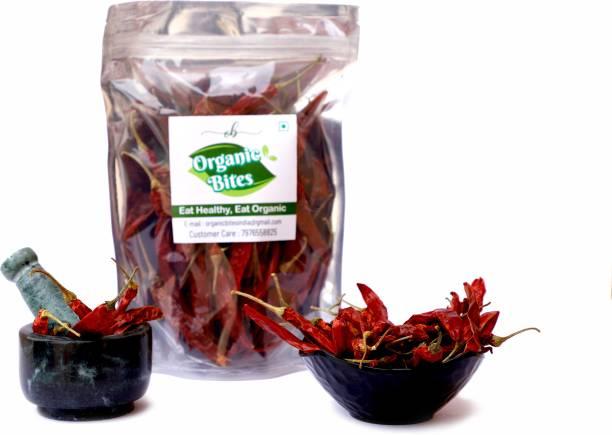 Organic Bites Whole Red Chilly (Mathaniya Mirchi)