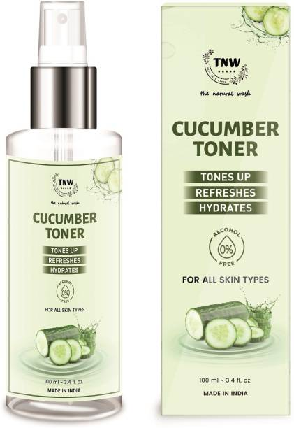 TNW - The Natural Wash Cucumber Toner, Tones up, Refreshes ,Hydrates for all skin Types Men & Women