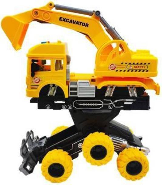 Himanshu Tax 6 wheeler truck Unbreakable Big Size Excavator toys TOYS Vehicles Truck toys Construction set