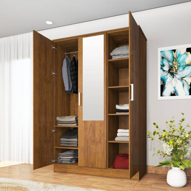 Lumberlust Engineered Wood 3 Door Wardrobe