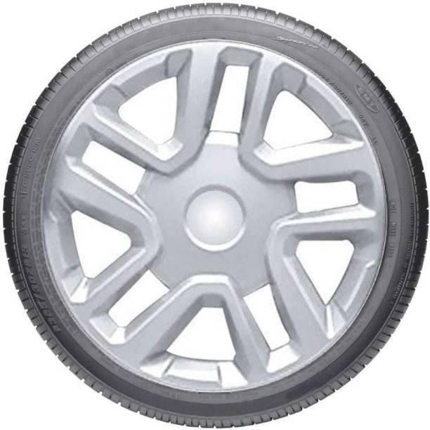 JBMR Gaurav Dual Color Silver 16-inch Tyre Sport Rim cover, Wheel Cover with Rings, wheel cap 16-inch Wheel Cover (16 cm) (37.56 cm) Wheel Cover For Mahindra Scorpio, XUV, Bolero, Sumo