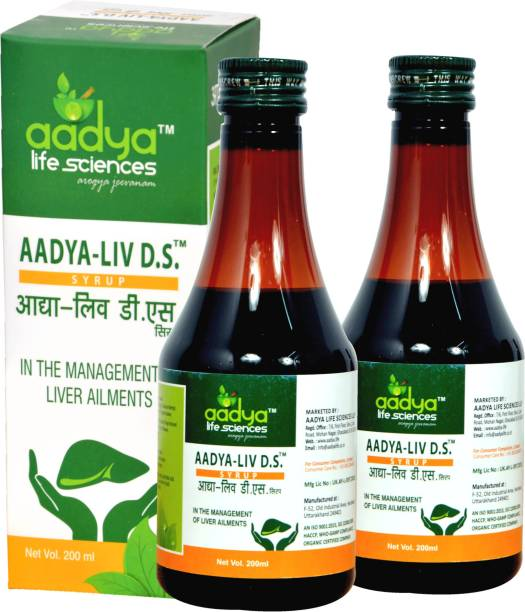 Aadya Life liv D.S. Syrup (200 ml each), For Healthy Liver and Improves Appetite & Digestion