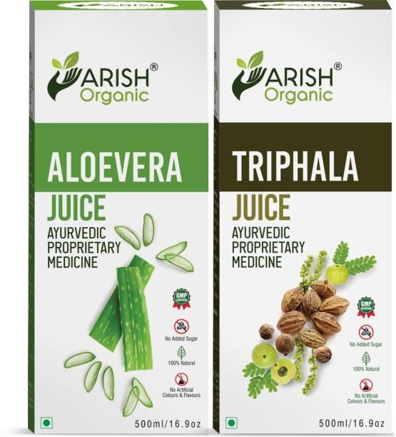 ARISH organic ALOEVERA JUICE AND TRIPHOLA JUICE COMBO PACK OF 2