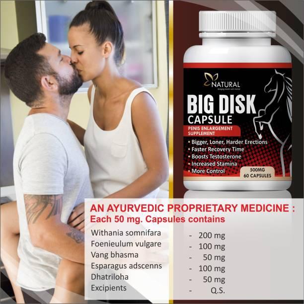 Natural Big Disk Herbal Capsules For Men's Health Care 100% Ayurvedic