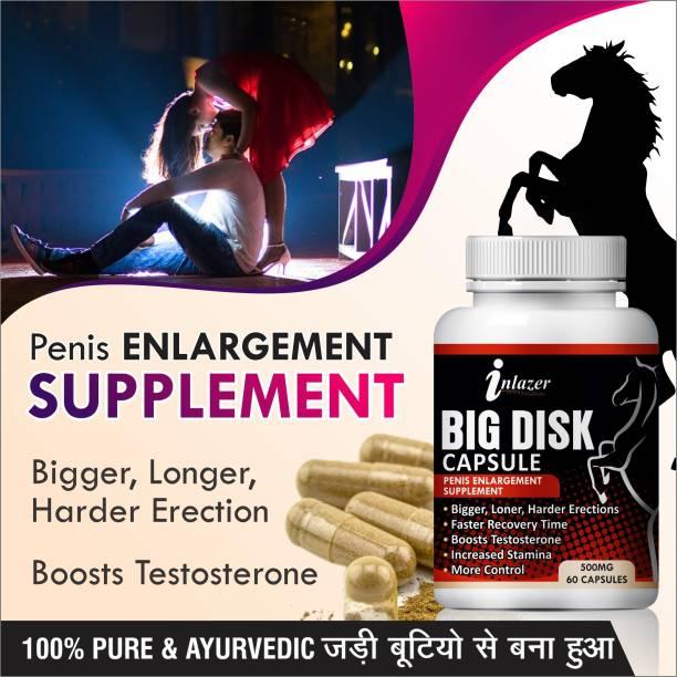 inlazer Big Disk Organic Capsules Ling Bada Mota Karne Ki Dawa 100% Ayurvedic (60 Capsules)