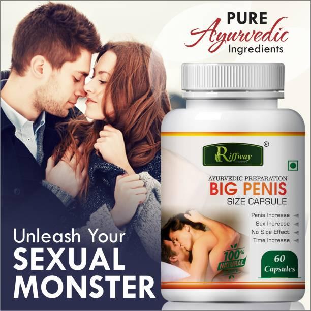 Riffway Big Penis Size Capsules for Ling Mota Lamba Karne Ki Medicine/Increase Sexual Time 100% Ayurvedic