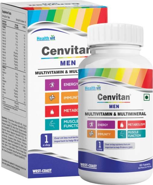 HealthVit Cenvitan Men Multivitamin & Multimineral for Metabolism and Immunity - 60 Tablets