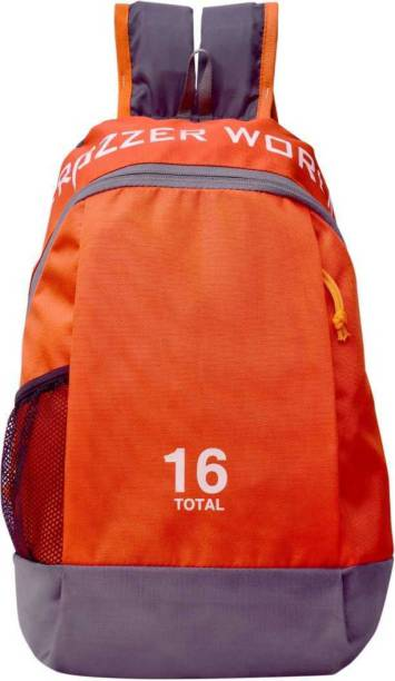 Frazzer Unisex Outdoor Travel Rucksack for Small Hiking, Cycling, Picnic, Camping & Multipurpose 16L Backpack (Orange) Backpack