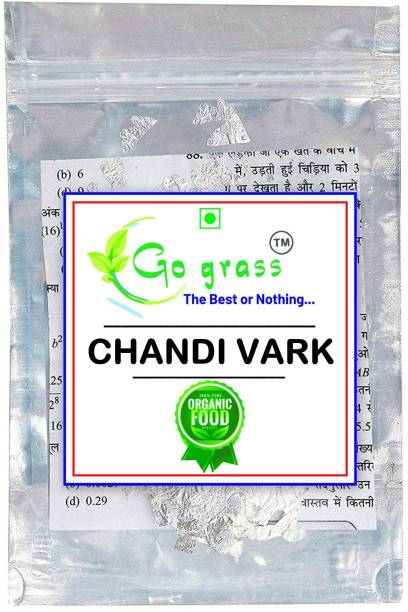 GO GRASS Chandi vark for decorating sweets Glitters