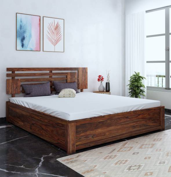 Home Edge Aelinia Solid Wood King Box Bed