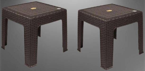 Anmol Moulded Furniture Fixed Center Table With 1 Year Guarantee pack of 2(size Medium) Weight Bearing Capacity 150 kg Plastic Coffee Table
