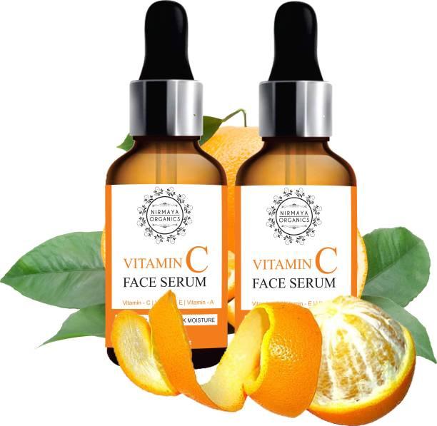 Nirmaya Organics Skin Brightening And Illuminating Vitamin C Serum For Glowing Skin And Face Serum 60ml