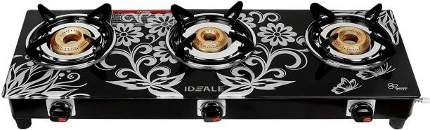 Ideale Digital Compectra Glass, Stainless Steel Manual Gas Stove