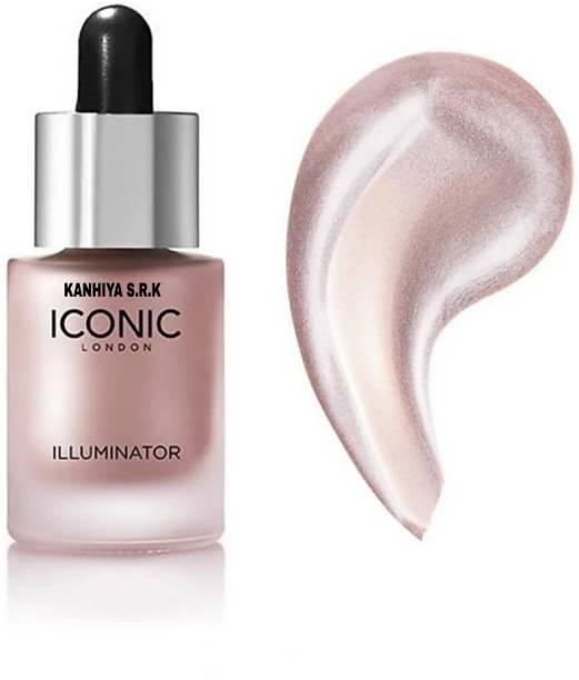 KANHIYA S.R.K Iconic Illuminator Ultra Smooth Shine Waterproof Face And Body Highlighter 3D glow shine for medium to wheatish skin Highlighter (SHINE) Highlighter