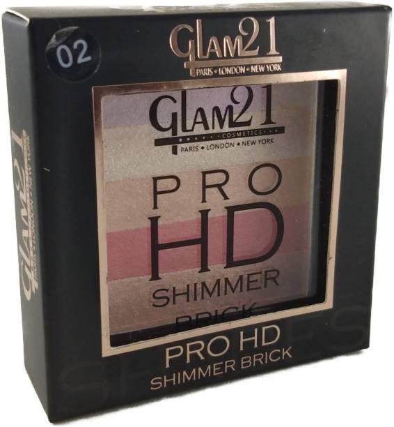 Glam 21 PRO HD SHIMMER BRICK * ALL NEW BY ULTRASTORE(02) Highlighter