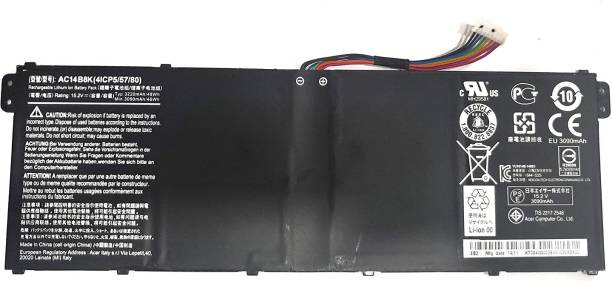 SellZone Replacement Laptop Battery Compatible For Acer Aspire ES1-311 ES1-411 ES1-421 ES1-431 ES1-511 ES1-512 ES1-521 ES1-531 ES1-572 ES1-711. AC14B8K, AC14B18J Battery 6 Cell Laptop Battery