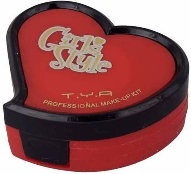 Pro Tya Cute Little Style Heart Shape Makeup Kit