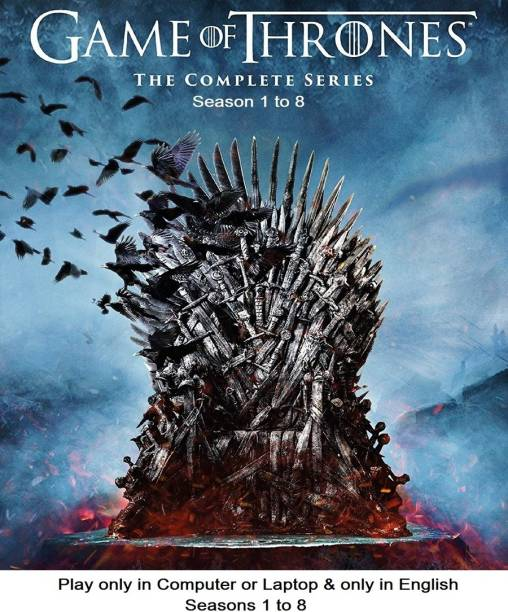 Game Of Thrones All Full Seasons 1 to 8 only in English it's DURN DATA DVD play only in computer or laptop it's not original without poster HD print quality