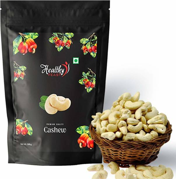Healthy FEAST W320 Premium Cashew Nuts, Cashews 500gm Cashews