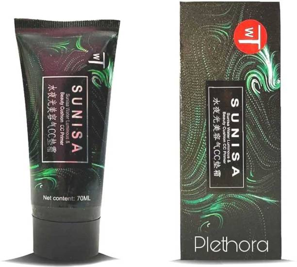 Plethora Sunisa CC Air Cushion Primer Korean Mushroom Head Cosmetic Waterproof  Primer  - 70 ml