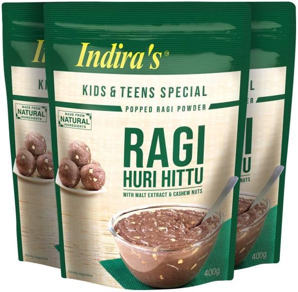 Indira Ragi Special Huri Hittu 400g Pack of 3 1200 g