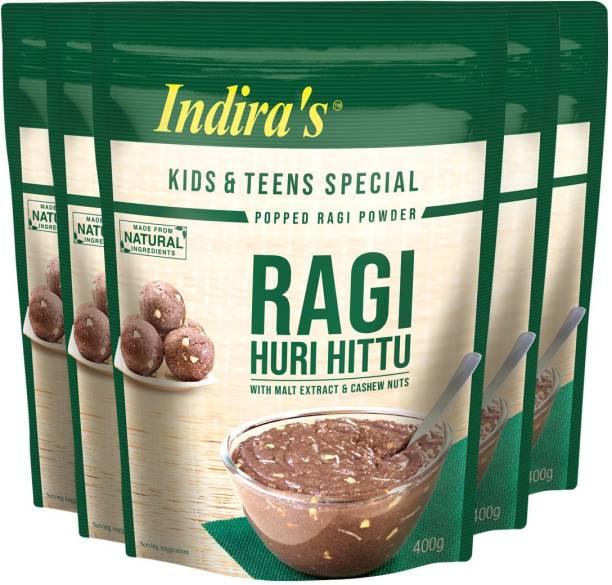 Indira Ragi Special Huri Hittu 400g Pack of 5 2000 g