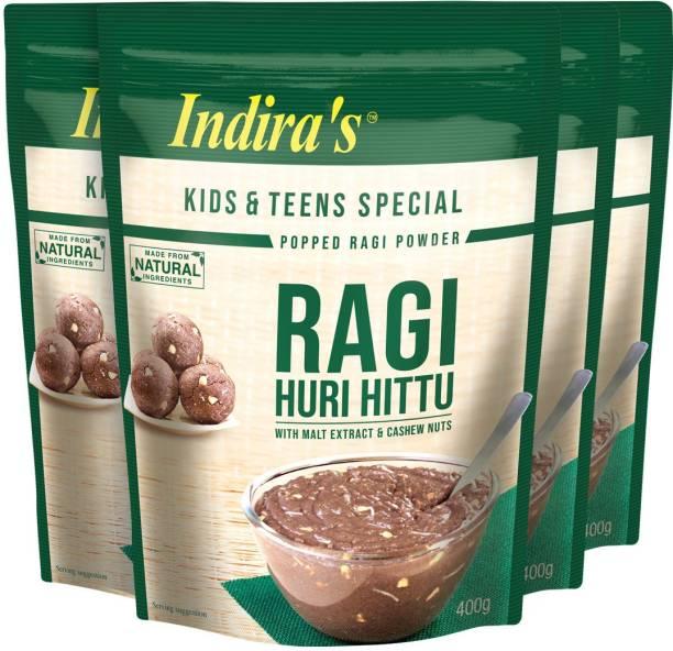 Indira Ragi Special Huri Hittu 400g Pack of 4 1600 g