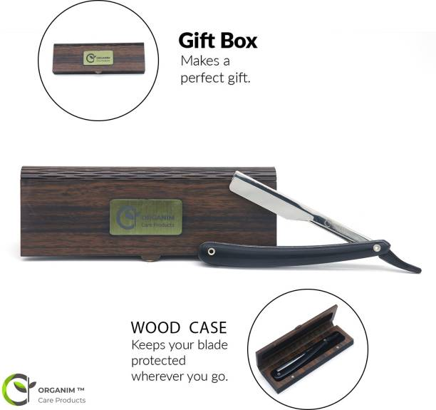 Organim care products Royal Barber Plastic Straight Razor With Wooden Razor Box ,For Saloon And Parlor