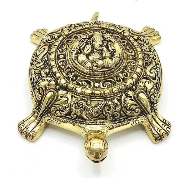 PlusValue Premium Ganesha Tortoise Decorative Showpiece  -  19.05 cm
