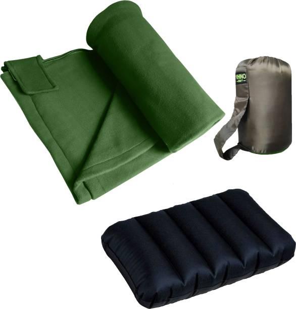 RHINOKraft Green Fleece Sleeping Bag Liner Sleeping Bag