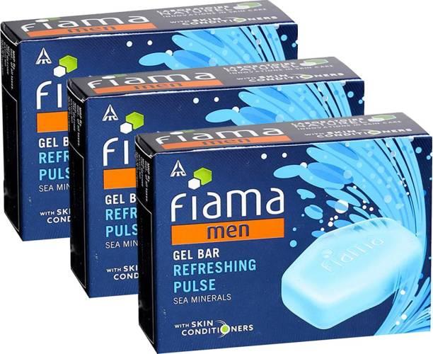 FIAMA Men Gel Bar Refreshing Pulse 125gm Pack Of 3