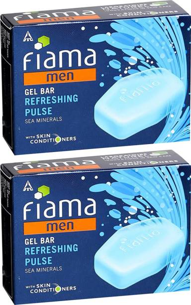 FIAMA Men Gel Bar Refreshing Pulse 125gm Pack Of 2