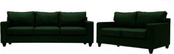 Mofi sofas Fabric 3 + 2 Green Sofa Set