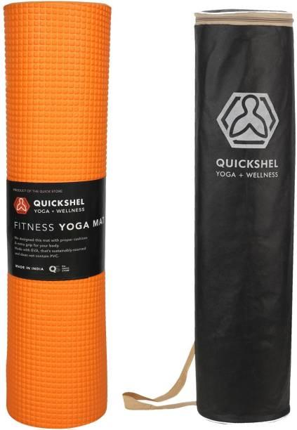Quick Shel 6MM YOGA MAT 100% EVA ECO FRIENDLY Premium Quality Orange 6 mm Yoga Mat