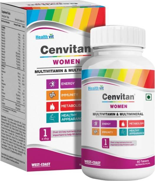 HealthVit Cenvitan Women Multivitamin & Multimineral for Energy and Immunity - 60 Tablets