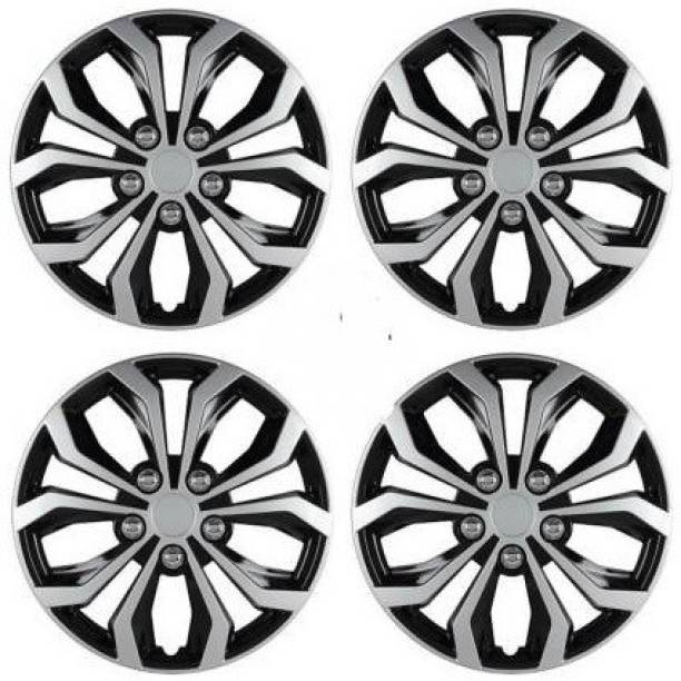 Ubom Dual Color Silver Black 15-inch Tyre Sport Rim cover, Wheel Cover with Rings, wheel cap 15-inch (Set of 4pc, Silver Black) Wheel Cover Wheel Cover Wheel Cover For Maruti Ciaz