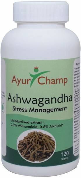Ayur Champ Ashwagandha Stress Management - 120 Tablets