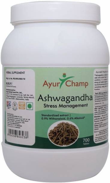 Ayur Champ Ashwagandha 700 Tablets 500mg - Stress Control Management