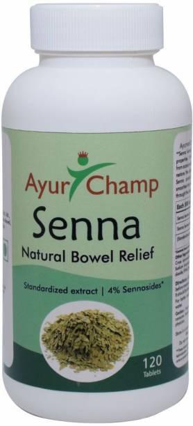 Ayur Champ Senna Natural Bowel Movement - 120 Tablets