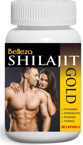 Belleza SHILAJIT Testosterone booster capsules for Stamina Power & Timing